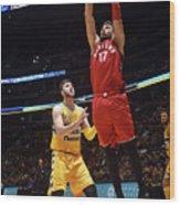 Toronto Raptors V Denver Nuggets Wood Print
