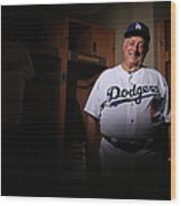 Los Angeles Dodgers Photo Day Wood Print