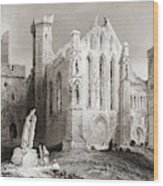 Ruins At Cashel, From The South, Connemara, County Galway, Ireland Wood Print