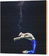 Ballet Dancer Underwater Wood Print