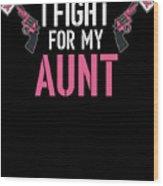 Breast Cancer Awareness Art For Warrior Women Dark Wood Print