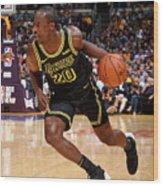 Houston Rockets V Los Angeles Lakers Wood Print