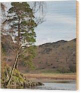 Beautiful Vibrant Sunrise Landscape Image Of Blea Tarn In Uk Lak Wood Print