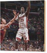 Miami Heat V Cleveland Cavaliers Wood Print