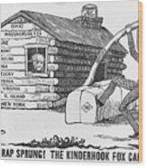 1840 Presidential Election Cartoon Wood Print