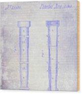 1860 Fire Hose Nozzle Patent Blueprint Wood Print