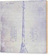 1871 Fire Hose Elevator Patent Blueprint  Wood Print