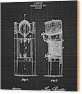 1876 Brewing Cooler - Black Blueprint Wood Print