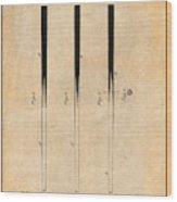 1879 Billiard Cue Antique Paper Patent Print Wood Print