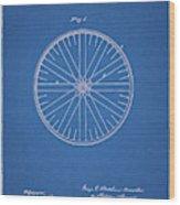 1885 Bicycle Wheel Patent Wood Print