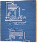 1885 Furnace Patent Wood Print
