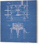 1885 Grist Mill Patent Wood Print