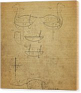 1885 Hunting Decoy Patent Wood Print