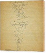 1885 Plow Patent Wood Print