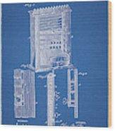 1885 Pool Rack Patent Wood Print