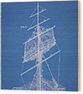 1885 Sails Patent Wood Print