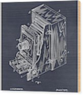1887 Blair Photographic Camera Blackboard Patent Print Wood Print