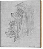 1887 Blair Photographic Camera Gray Patent Print Wood Print