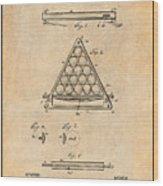 1891 Billiard Ball Rack Patent Print Antique Paper Wood Print