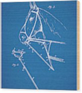 1891 Horse Harness Attachment Patent Print Blueprint Wood Print