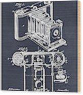 1899 Photographic Camera Patent Print Blackboard Wood Print