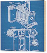 1899 Photographic Camera Patent Print Blueprint Wood Print