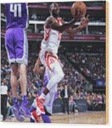 Houston Rockets V Sacramento Kings Wood Print