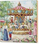190 Magical Horses Wood Print