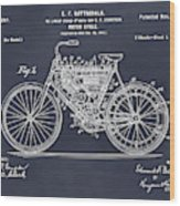 1901 Stratton Motorcycle Blackboard Patent Print Wood Print