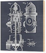 1903 Fire Hydrant Blackboard Patent Print Wood Print
