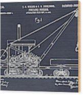 1903 Railroad Derrick Blackboard Patent Print Wood Print