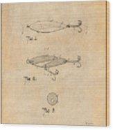 1909 Lockhart Antique Fishing Lure Antique Paper Patent Print Wood Print