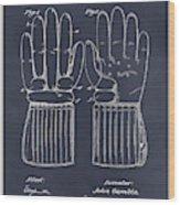 1914 Hockey Gloves Blackboard Patent Print Wood Print