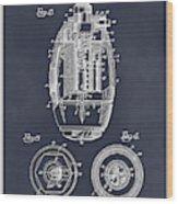 1917 Hand Grenade Blackboard Patent Print Wood Print
