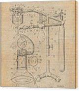 1919 Anesthetic Machine Antique Paper Patent Print Wood Print