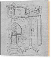 1919 Anesthetic Machine Gray Patent Print Wood Print