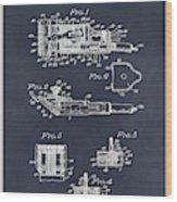 1919 Motor Driven Hair Clipper Blackboard Patent Print Wood Print