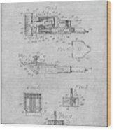 1919 Motor Driven Hair Clipper Gray Patent Print Wood Print
