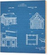 1920 Lincoln Logs Blueprint Patent Print Wood Print