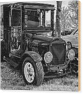 1925 Ford Model T Delivery Truck Hot Rod Wood Print