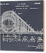 1927 Roller Coaster Blackboard Patent Print Wood Print