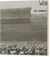 1927 World Series At Yankee Stadium Wood Print