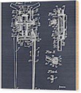 1929 Harley Davidson Front Fork Blackboard Patent Print Wood Print