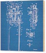 1929 Harley Davidson Front Fork Blueprint Patent Print Wood Print
