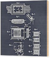 1930 Leon Hatot Self Winding Watch Patent Print Blackboard Wood Print