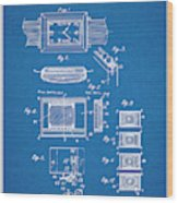 1930 Leon Hatot Self Winding Watch Patent Print Bluebrint Wood Print