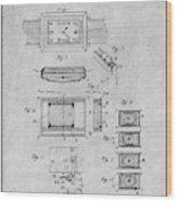 1930 Leon Hatot Self Winding Watch Patent Print Gray Wood Print