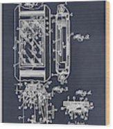 1931 Self Winding Watch Patent Print Blackboard Wood Print