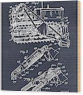 1932 Earth Moving Bulldozer Blackboard Patent Print Wood Print
