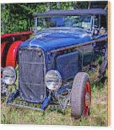 1932 Ford Highboy Hot Rod Roadster Wood Print